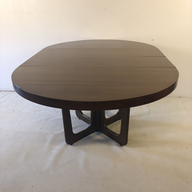 Mid-Century Modern 1960s Danish Modern Walnut Base Dining Table With 2 Leaves For Sale - Image 3 of 13