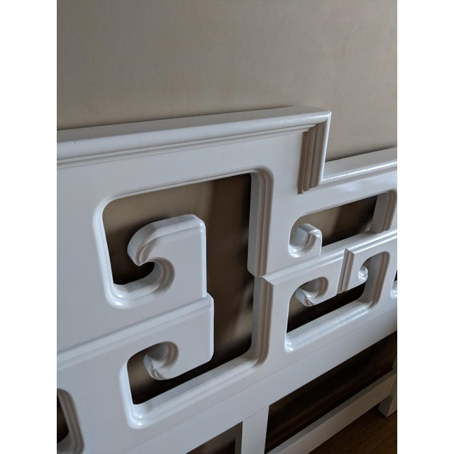 Vintage king size headboard designed by Century Furniture. Unique geometric design. Professionally painted in a high gloss...