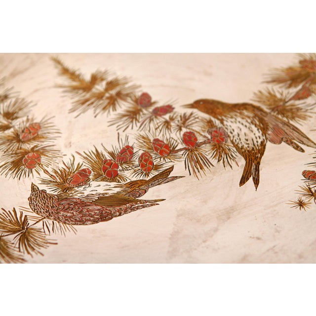 Silver Silver Plated Mixed Metal Brass & Copper Audubon Plates for Tiffany & Co. - a Pair For Sale - Image 8 of 12