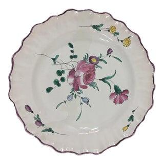 19th Century Moustier Plate For Sale