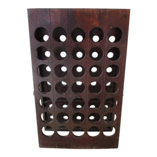 Modern Wood 35 Bottle Standing Wine Rack For Sale
