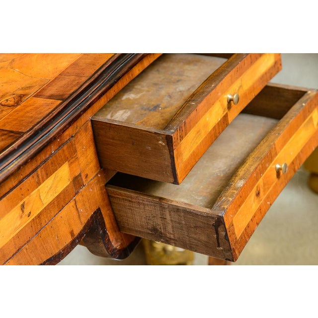 1900 - 1909 1900s Italian Olive Wood Writing Desk / Console For Sale - Image 5 of 8