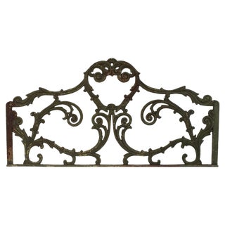 Wrought Iron Architectural Piece For Sale