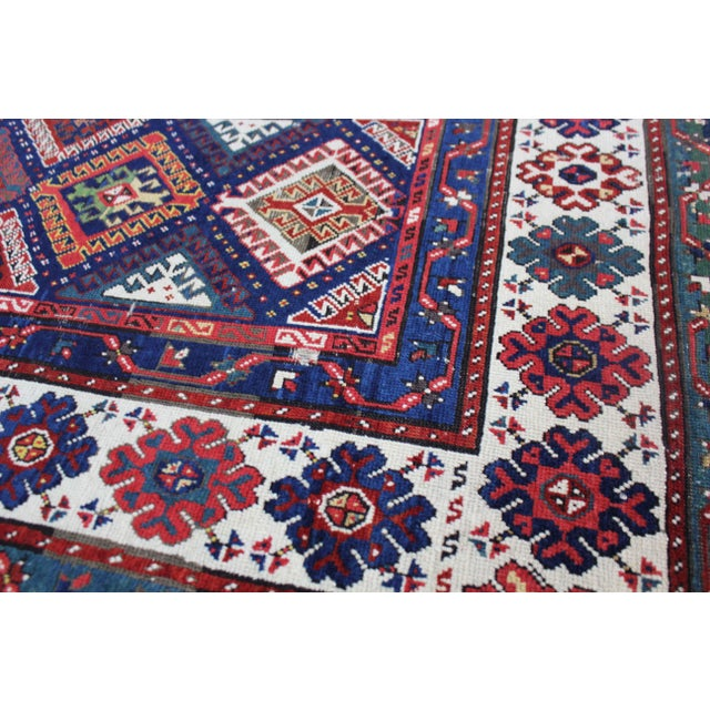 Late 19th Century Antique Hand-Knotted Talish Kazak Rug - 3′4″ × 8′4″ For Sale In Los Angeles - Image 6 of 12