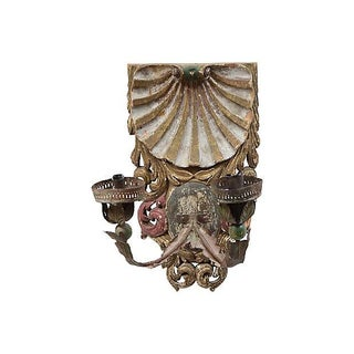 Antique Carved Shell Candle Sconce Preview