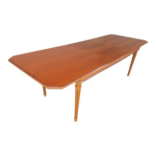 Louis XVI Style Butterfly Leaf Extending Dining Table For Sale