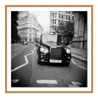 Taxi Holga Film by Ashley Garmon, Contemporary Photograph in Gold, Small For Sale