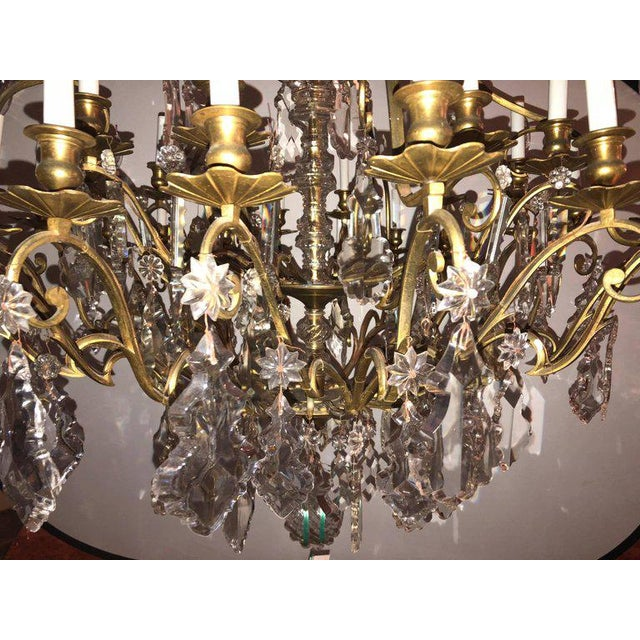 Bronze and Crystal Palatial Thirty-Light Chandelier For Sale In New York - Image 6 of 13