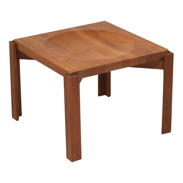 Jens Quistgaard Teak Tray Table with Concave Top, Denmark, 1960s For Sale