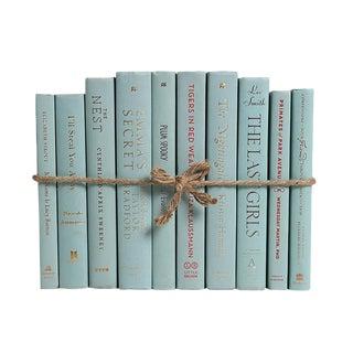 Modern Sea Foam ColorPak : Decorative Books in Shades of Pale Aqua For Sale