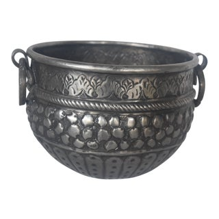 Vintage Silver Cachepot For Sale