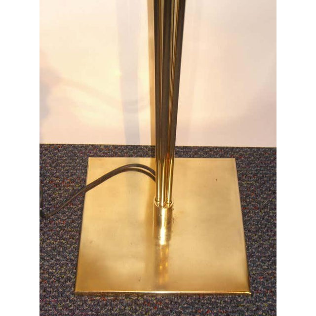 George Kovacs Relux of Milan Italy Brass Halogen Torchiere For Sale - Image 4 of 9