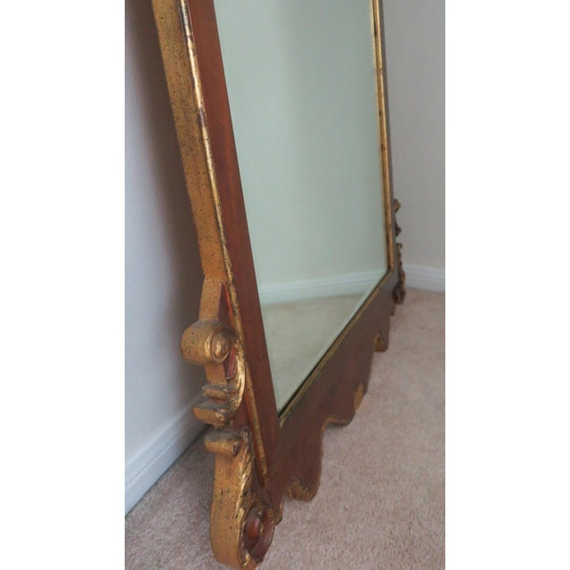 Labarge Vintage Italian Gold Mirror by La Barge Burl Wood and Gold Gilt For Sale - Image 4 of 9