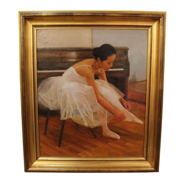 Wu Jian Ballerina Oil Painting For Sale