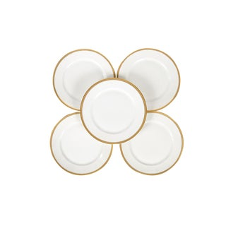 Rosenthal Selb Bavaria Gold Trim Dinner Plates - Set of 5 For Sale