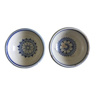 1960s Italian Terra Cotta Glazed Nut Dishes - a Pair For Sale