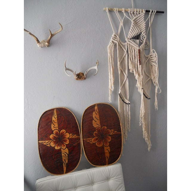 Floral Moroccan Wall Hangings - A Pair - Image 4 of 6