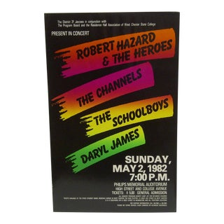 1982 State College Concert Series Poster For Sale