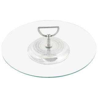 Christofle Vibrations Cheese Hors d'Oeuvres Tray Silver Plate For Sale