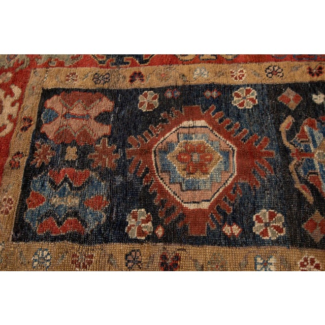 "Vintage Persian Tribal Bakshaish Rug, 3'11"" X 10'3"". For Sale In New York - Image 6 of 10"
