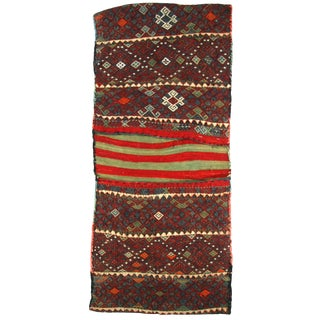 Embroidered Vintage Turkish Saddlebag For Sale