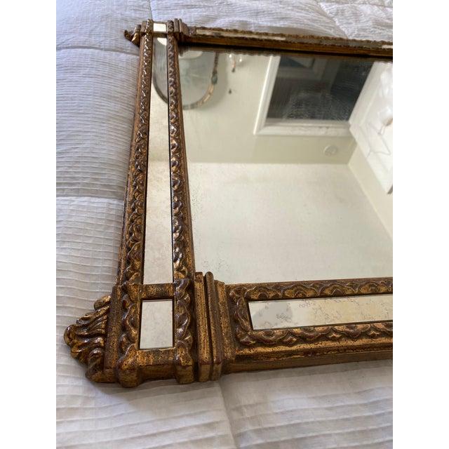 1960s 1960s Vintage Large Hollywood Regency La Barge Gold Mirror For Sale - Image 5 of 12