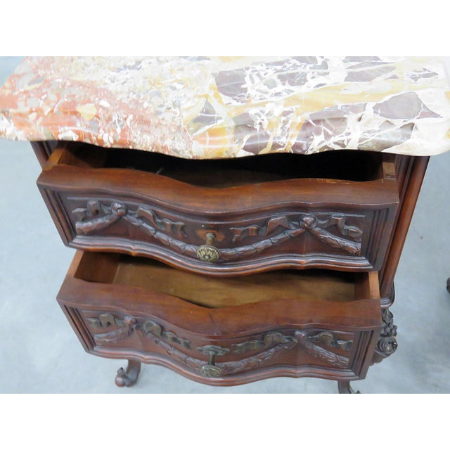 Louis XV Style Marble Top End Tables For Sale - Image 9 of 10