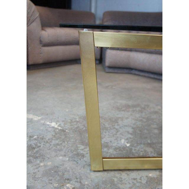 Contemporary Contemporary West Elm Cross-Base Square Coffee Table For Sale - Image 3 of 11