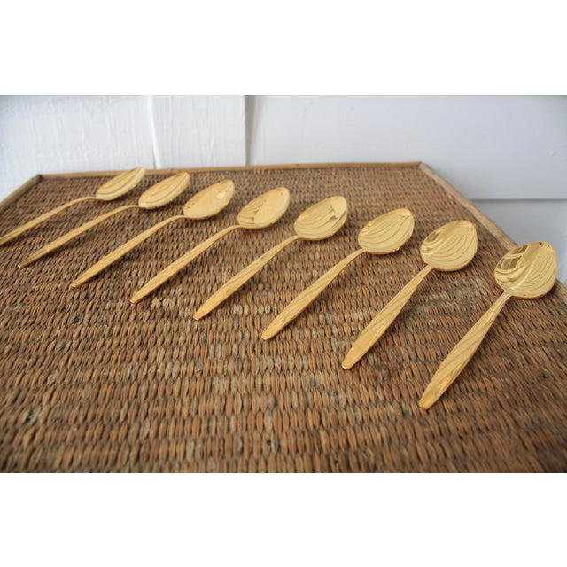 Mid-Century International Silver Gold Tone Spoons - Set of 8 - Image 6 of 11