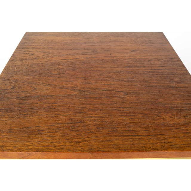 Paul McCobb for Calvin Group Mid Century Oak and Brass Nightstand For Sale - Image 9 of 13