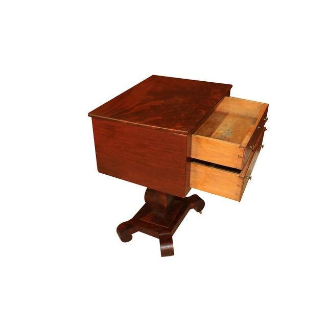 American Classical American Empire Style Side Table For Sale - Image 3 of 11