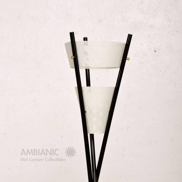 1960s Mid Century Modern Black Tripod Floor Lamp After McCobb For Sale - Image 5 of 7