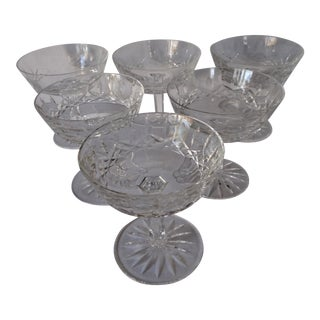 Waterford Champagne Coupes - Set of 6 For Sale