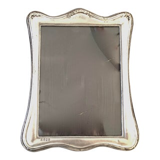 Sterling Silver Standing Photo Frame For Sale