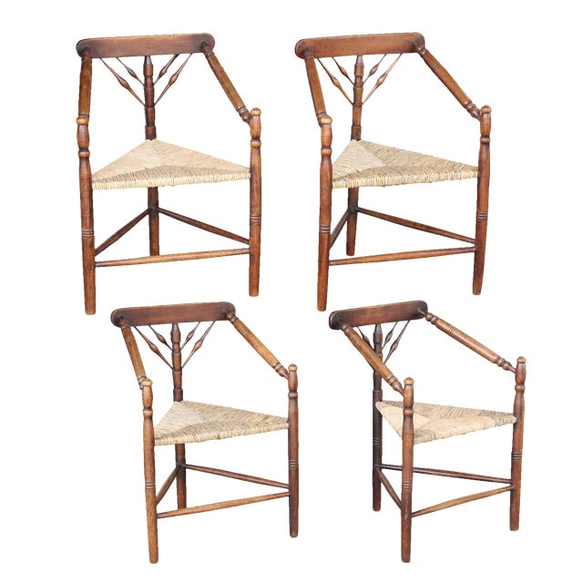 Set of Four Early 20th Century Turner Chairs by William Birch For Sale