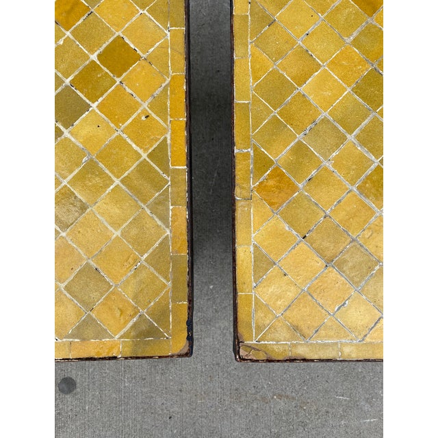 Vintage Side-Tables With Tile Top - a Pair For Sale - Image 4 of 5