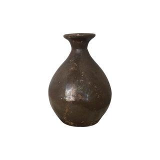 Antique Brown Crock Vase For Sale