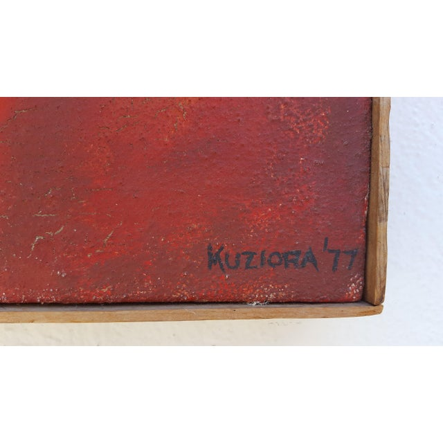 1977 Intermezzo Abstract Painting By Chester T. Kuziora - Image 7 of 11