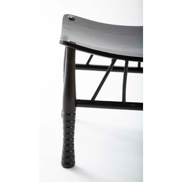 English 19th Century Egyptian Revival Ebony Thebes Stool For Sale In New York - Image 6 of 9