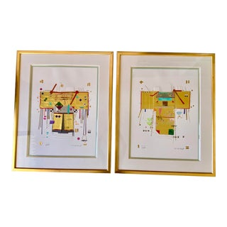 "1960s ""Magic Robes Series No V and II"" Collage by BH Brody, Framed - a Pair For Sale"
