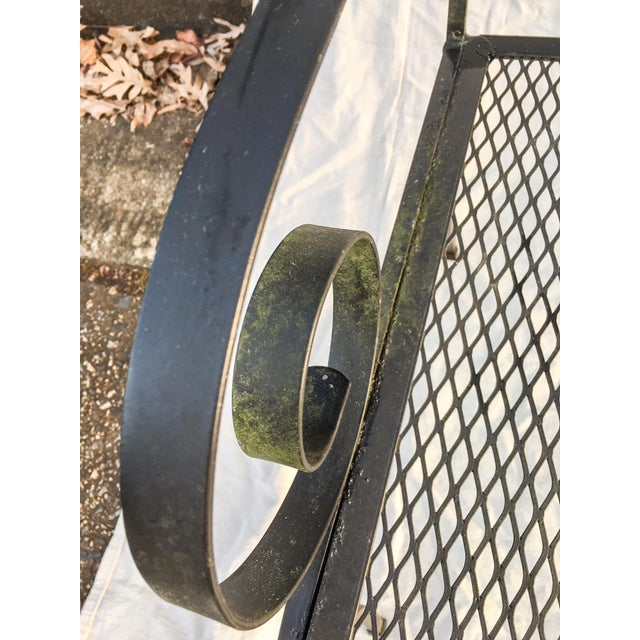 Vintage Small-Scale Mossy Salterini Garden Bench For Sale - Image 4 of 10