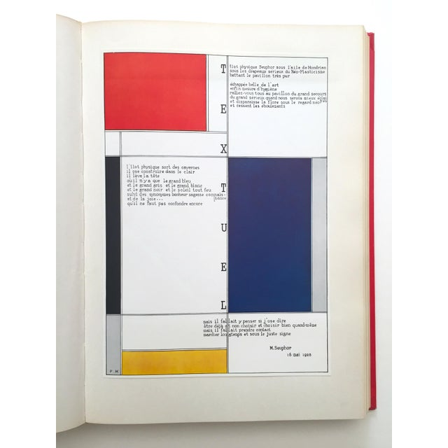 """"""" Piet Mondrian - Life and Work """" Rare Vintage 1956 1st Edtn Collector's Iconic Large Volume Lithograph Print Modernist Art Book For Sale - Image 12 of 13"""
