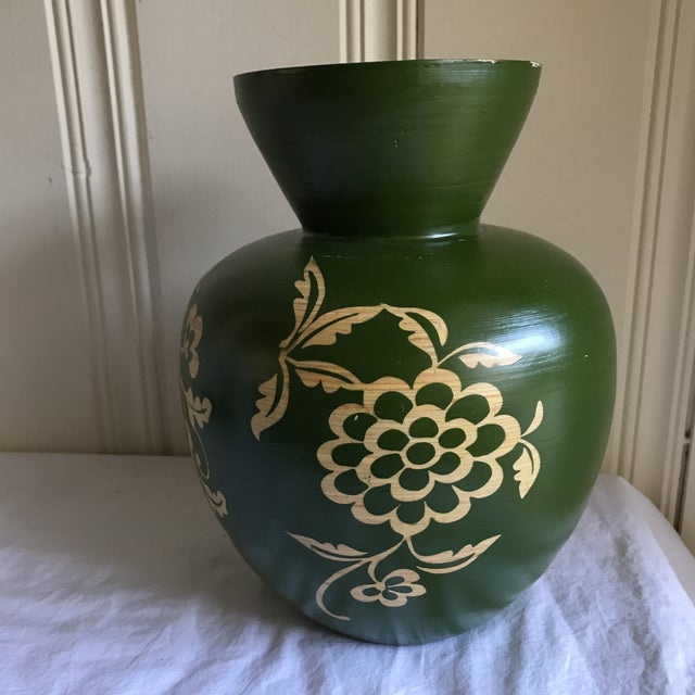 Floral Asian Bamboo Vase - Image 8 of 8