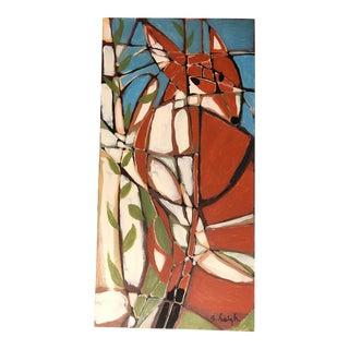 Original Painting Fox by Philadelphia Illustrator Stephen Heigh