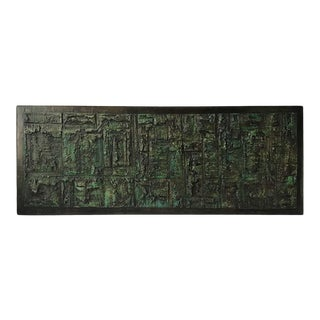 Large Abstract Impasto Painting by John Stritch For Sale