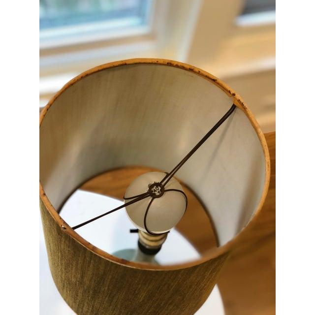 Ceramic Vintage Green Plasto Ceramic Lamp For Sale - Image 7 of 10
