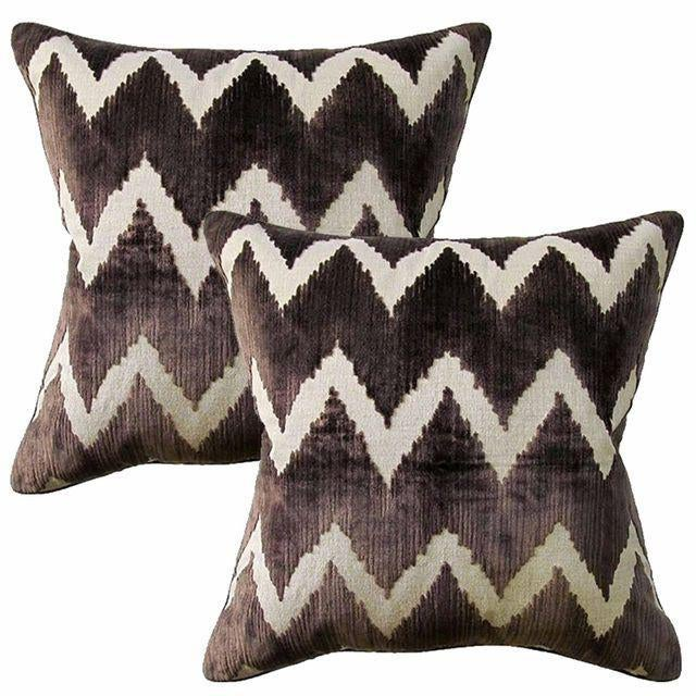 Lee Jofa Watersedge Belgian Velvet Accent Pillows - A Pair - Image 1 of 3