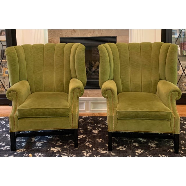 Century Furniture Artesia Wingback Chairs- A Pair For Sale - Image 13 of 13