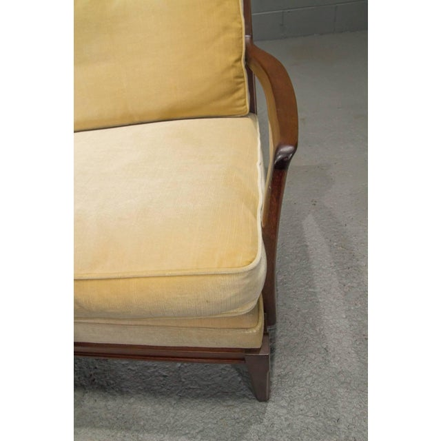 Danish Modern Loveseat Settee With Down Cushions For Sale In Boston - Image 6 of 11