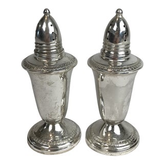 1950s Sterling Silver Salt and Pepper Shaker - a Pair For Sale